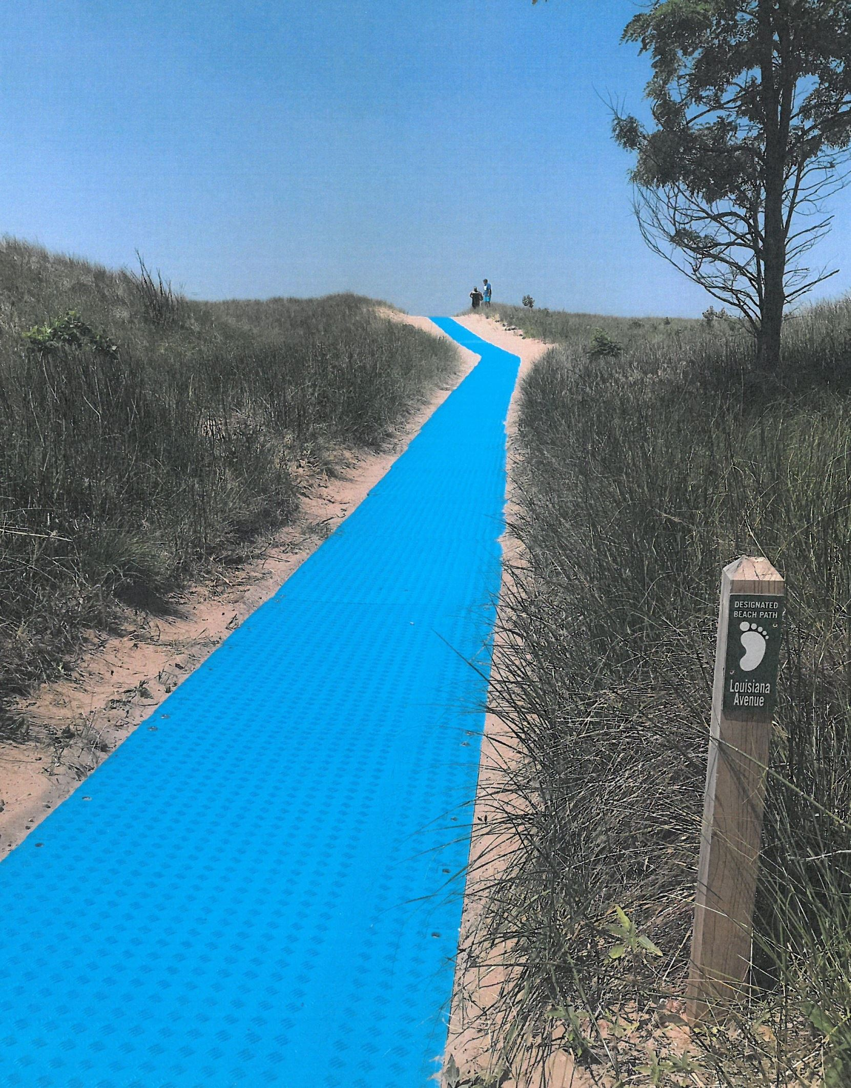 louisiana beach path