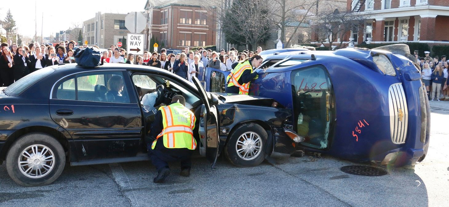 Mock Crash Scene