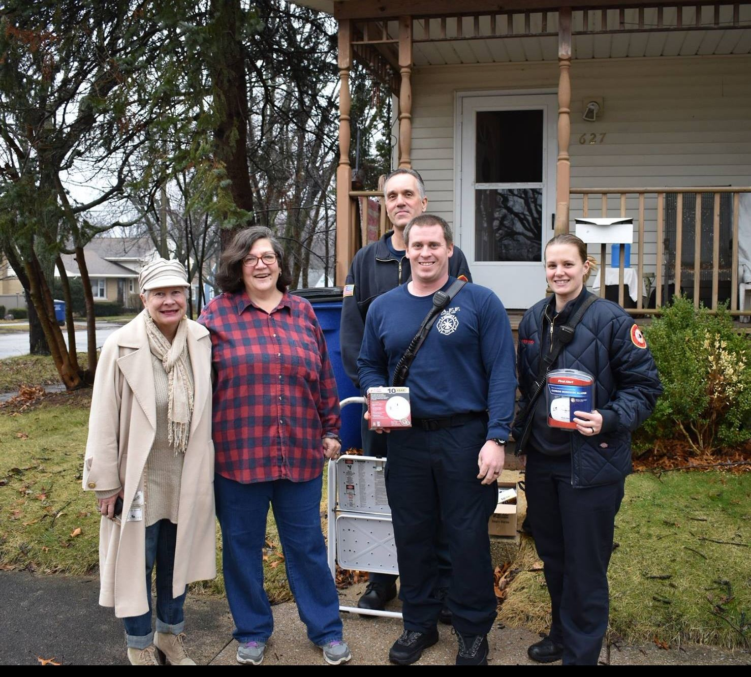 MCFD and the LOK Wishing Tree Foundation providing carbon monoxide detectors to residents